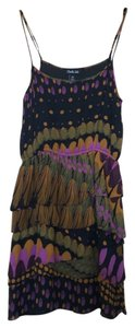 Charlie jade short dress Black, purple, orange on Tradesy