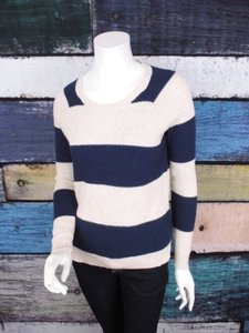 Madewell Cream Striped Sweater