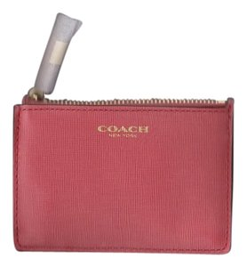 Coach Coach Loganberry Saffiano Leather Mini ID Skinny