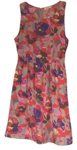 Everly Floral Sleevless Silk Dress