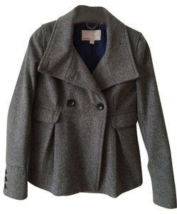 Old Navy Wool Peacoat Cropped Coat GRAY Jacket