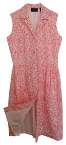 Liz Claiborne short dress Pink and White Floral Sleeveless Lined Cotton on Tradesy
