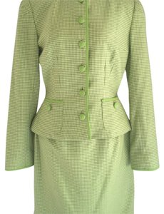 Peggy Jennings Green Herringbone Plaid