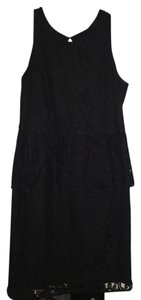 Banana Republic Peplum Lace Cut-out Dress