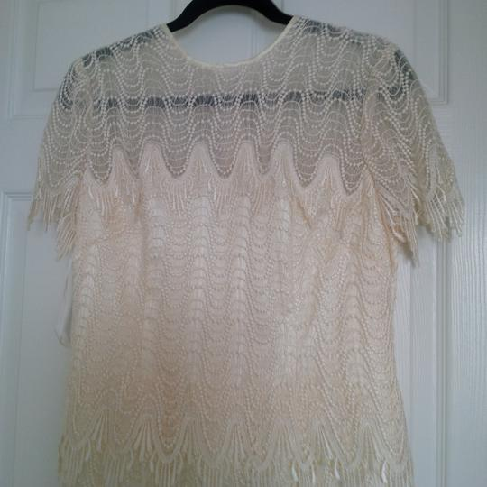 Bianchi Ivory Lace Over Satin Like Fabric New Gown Vintage Wedding Dress Size 12 (L) Image 6