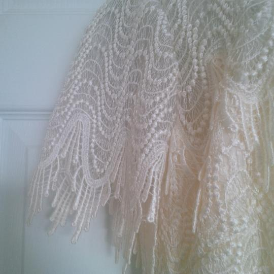 Bianchi Ivory Lace Over Satin Like Fabric New Gown Vintage Wedding Dress Size 12 (L) Image 3