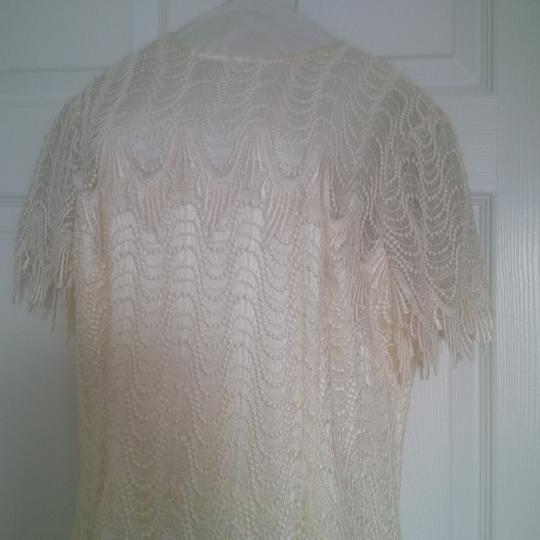 Bianchi Ivory Lace Over Satin Like Fabric New Gown Vintage Wedding Dress Size 12 (L) Image 4