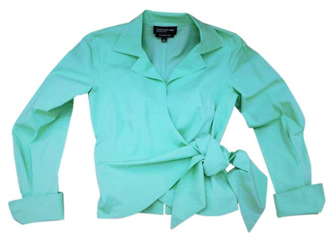 Preload https://item3.tradesy.com/images/jones-new-york-mint-green-collection-blouse-size-4-s-150467-0-2.jpg?width=400&height=650