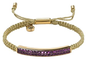 Michael Kors ADJUSTABLE-Stunning Iris Pave Crystal Bar Macrame Bracelet