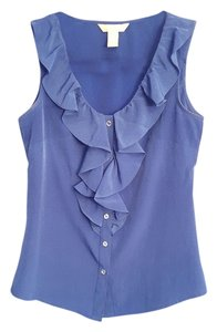 Banana Republic Work Classy Boss Professional Top Blue