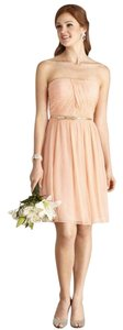 Donna Morgan Peach Fuzz Dress
