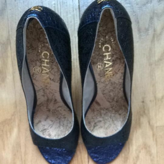 Chanel BLUE and BLACK Pumps