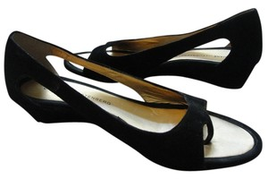 Diane von Furstenberg Designer Wedge Black Wedges