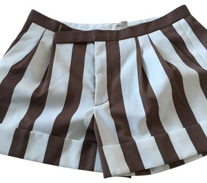 Marc Jacobs Dress Shorts Brown and white
