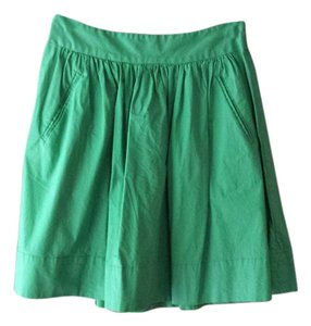 Banana Republic Circle Skirt Kelly Green