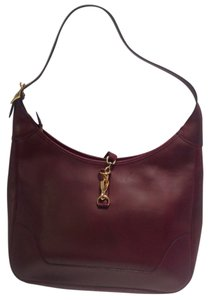 Hermès Vintage Burgundy 31 Cm Trim Hobo Bag
