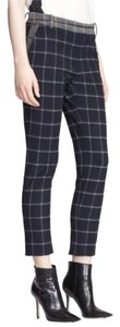 Band of Outsiders Cropped Trouser Menswear Inspired Opening Ceremony Capri/Cropped Pants Blue Plaid