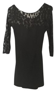 Forever 21 Lace Sheer Lbd Bodycon Dress