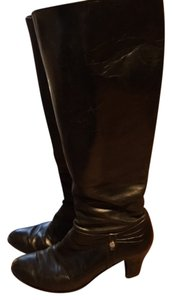 Salvatore Ferragamo Ladies Leather Vintage Black Boots