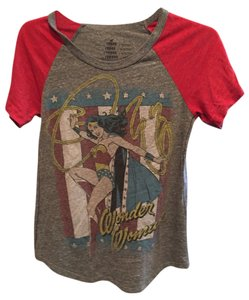 Modcloth T Shirt Red/grey