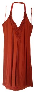 Burnt Orange Maxi Dress by Catherine Malandrino 100% Silk