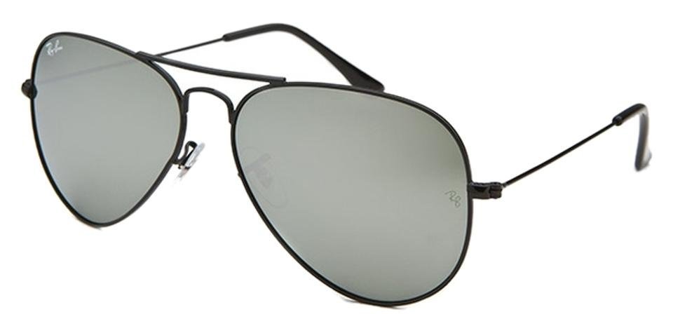 fb9dd9d4ec Ray-Ban Ray Ban Sunglasses - AVIATOR Mirror - Black Frame   Silver Mirror  Lenses .