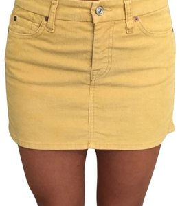 7 For All Mankind Mini Skirt Yellow