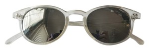 Urban Outfitters Reflective Clear White Sunglasses