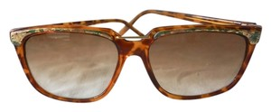 Other Vintage Retro Connected Bridge Brown Sunglasses
