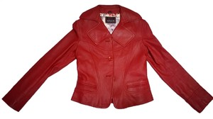 Adler Collection Red Leather Jacket