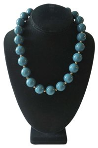 Vintage Aqua Ball Necklace