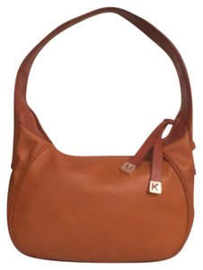 Michael Kors Mk Tan Leather Vintage Shoulder Bag