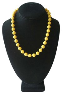 Vintage Yellow Ball Necklace