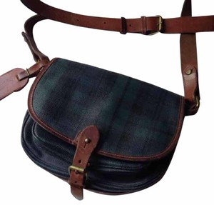 ralphs lauren polo Equestrian Tartan Saddle Vintage Cross Body Bag