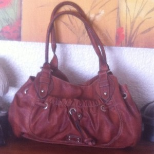 Nine West Distressed Satchel in Brown