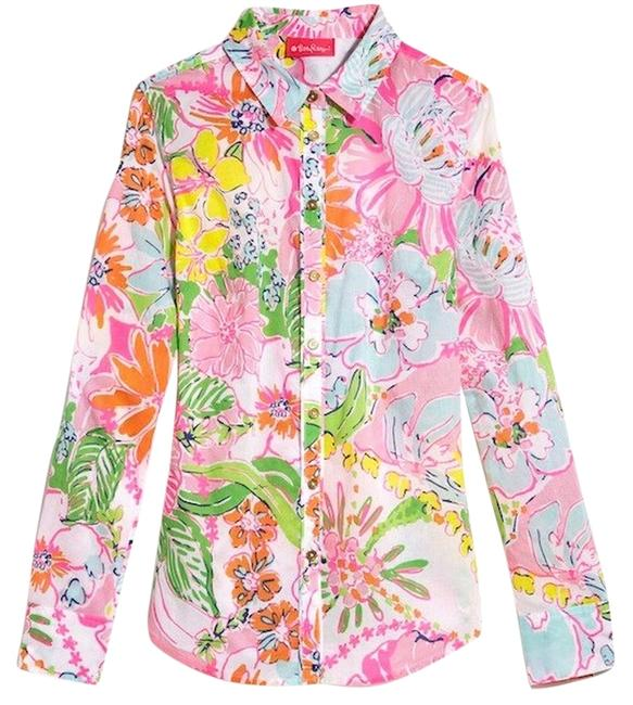 Preload https://item5.tradesy.com/images/lilly-pulitzer-for-target-nosey-posie-button-down-top-size-8-m-15050194-0-1.jpg?width=400&height=650