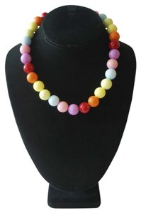 Rave Rainbow Multi-colored beaded ball necklace