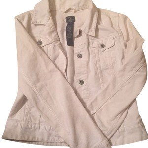 Lucky Brand White Womens Jean Jacket