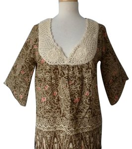 Joie Tunic Batik Top Brown