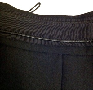 J. Mendel Wide Leg Pants Black w/ Patent Leather Piping