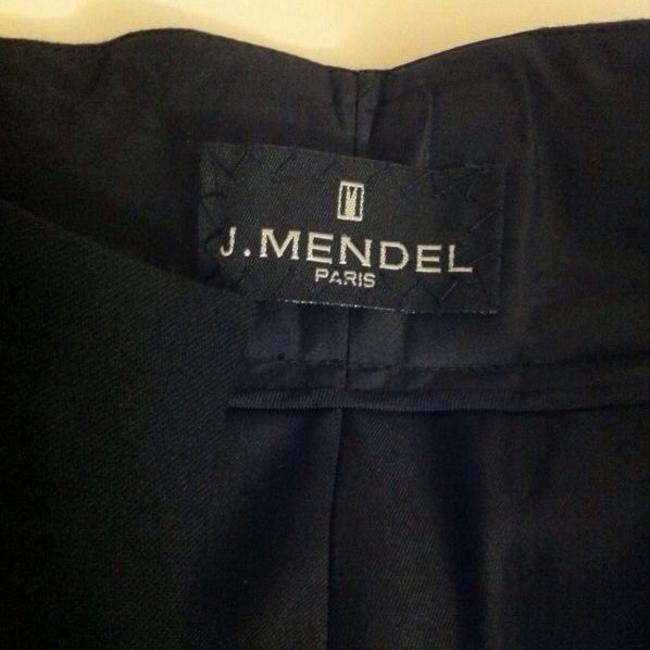 J. Mendel Wide Leg Pants Black w/ Patent Leather Piping Image 1