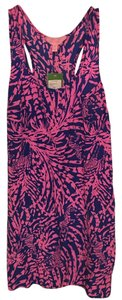 Lilly Pulitzer short dress Sapphire blue and pink on Tradesy