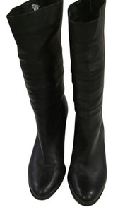 J. Renee Leather Midcalf Black Boots