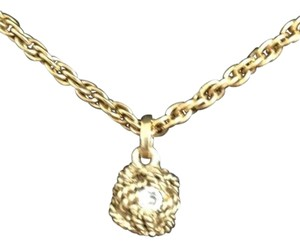 Chanel Chanel Vintag Gold Chain/Stone Pendant Never worn made in France