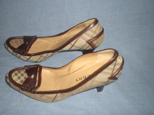 Burberry brown leather and plaids Pumps Image 6
