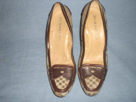 Burberry brown leather and plaids Pumps Image 8