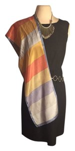 Oscar de la Renta OSCAR DE LA RENTA 100% SOFT LIGHT SILK COLORFUL SCARF 44