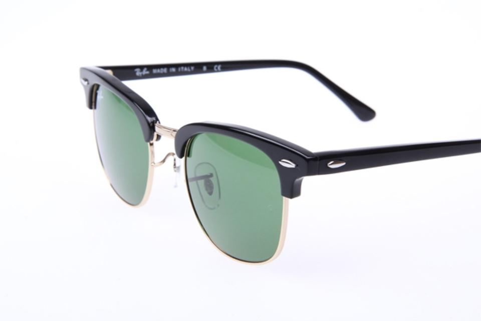 578918ed89 ... Ray Ban Clubmaster Classic RB3016 W0365 Sunglasses Black With G-15 Green.  123
