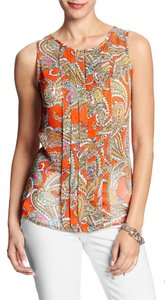 Banana Republic Paisley Top Orange
