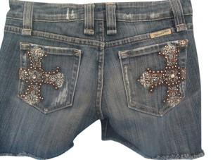 Miss Me Denim Shorts-Distressed